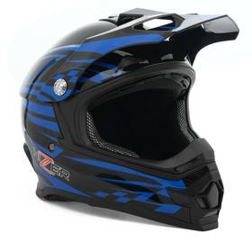 Шлем HIZER B6196, размер XL, черный/синий