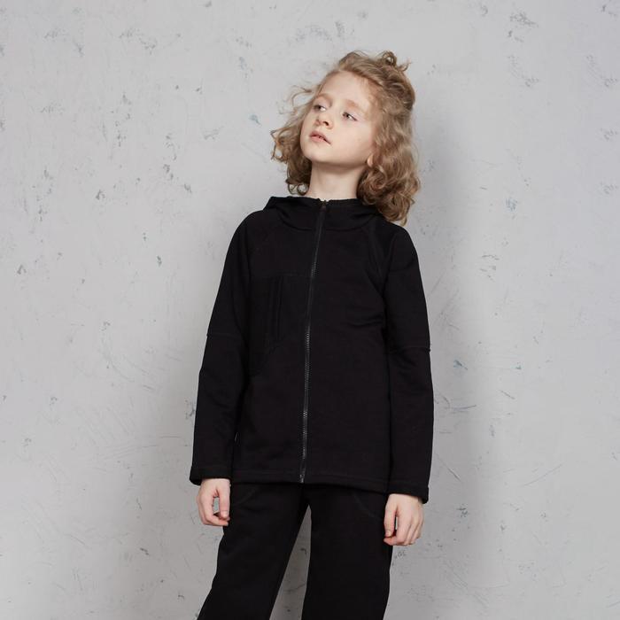 Толстовка для мальчика MINAKU: #liberty цвет чёрный, рост 116 - фото 1945365