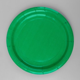 Plate, paper, monochrome, color green