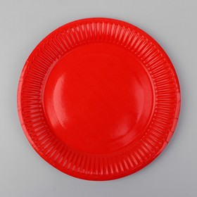 Plate, paper, monochrome, color red