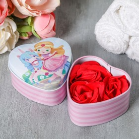 Мыльные лепестки в шкатулке-сердце 'Большие мечты маленькой принцессы' Ош