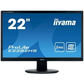 "Монитор Iiyama ProLite E2282HS-B1 21.5"", TN+film, 1920x1080, 60Гц,1мс,VGA,DVI,HDMI,чёрный"
