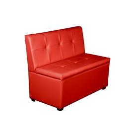 """Кухонный диван """"Уют-1,4"""", 1400x550x830, красный"""