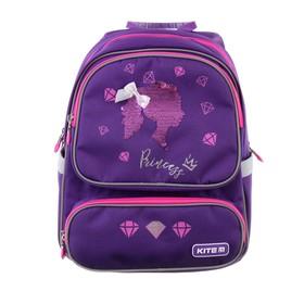Рюкзак школьный с эргономичной спинкой Kite 777, 36 х 28 х 15.5, для девочки Princess, фиолетовый
