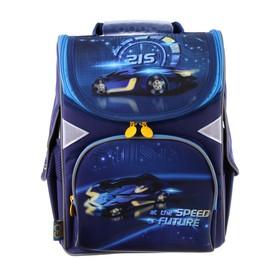 Ранец Стандарт GoPack 5001S, 34 х 26 х 13, для мальчика, Speed future, синий