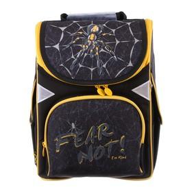 Ранец Стандарт GoPack 5001S, 34 х 26 х 13, для мальчика, Spider, чёрный