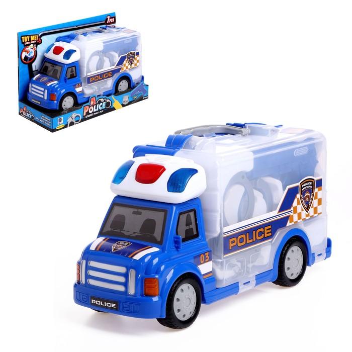 Набор полицейского в машине-кейсе «Спецотряд», световые и звуковые эффекты