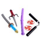 """Set ninja """"Team"""" of 6 items"""