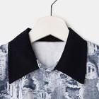 Костюм для мальчика «Боинг» (рубашка, шорты) цвет серый/чёрный, рост 128 см - фото 105469342