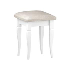 Табурет Танго-2 340х340х460 белый/мебельная рогожка бинго 31