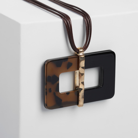 Pendant on cord New style mirror, black-brown
