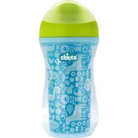 Чашка-поильник Chicco Active Cup, от 14 месяцев, цвет синий, рисунок МИКС, 266 мл
