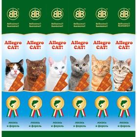 Колбаски B&B Allegro Dog для кошек, лосось/форель, 6 шт