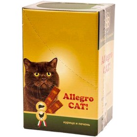 Колбаски B&B Allegro Dog для кошек, курица/печень, 60 шт