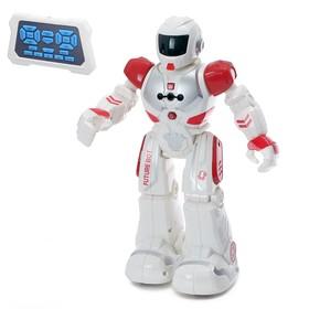 Робот радиоуправляемый «Смарт бот», ходит, световые и звуковые эффекты, русская озвучка, цвет красный