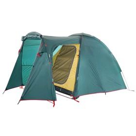 Палатка BTrace Element 4, двухслойная, четырёхместная, цвет зеленый