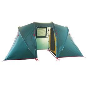 Палатка BTrace Tube 4, двухслойная, четырёхместная, цвет зеленый