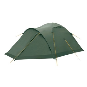 Палатка BTrace Talweg 3+, двухслойная, трёхместная, цвет зелёный