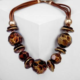 "Beads ""Nature"" faceted sphere, 50cm, color brown-gold"