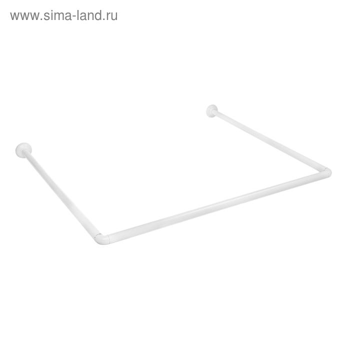 Карниз для ванной, 90*90*90 см, цвет белый