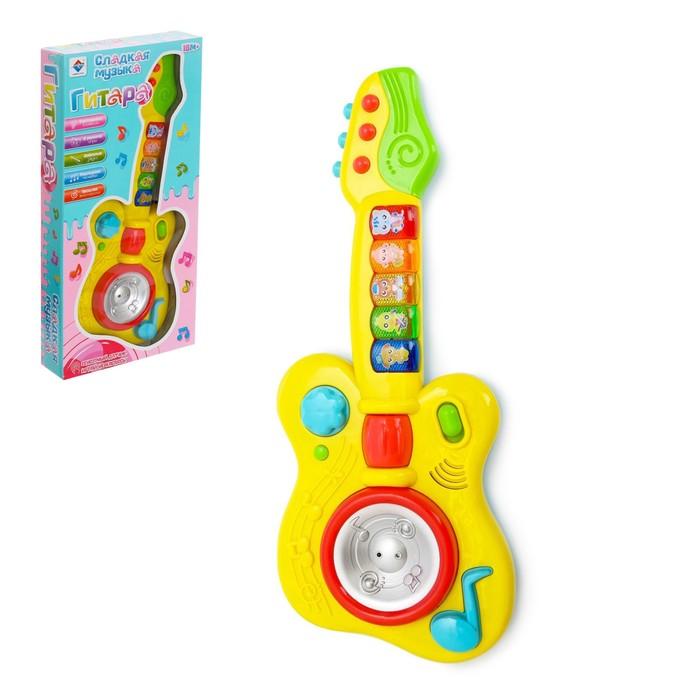 """Игрушка музыкальная гитара """"Сладкая музыка"""", работает от батареек"""