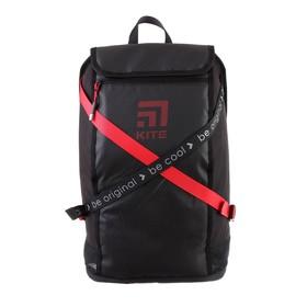 Рюкзак молодёжный с эргономичной спинкой Kite 917, 45 х 27 х 14, Сity, чёрный/красный