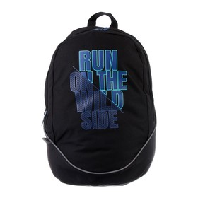 Рюкзак молодежный GoPack 120, 43 х 28 х 22, Run on the wild side, чёрный
