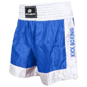 Шорты BoyBo для кикбоксинга, размер XXXS, цвет синий