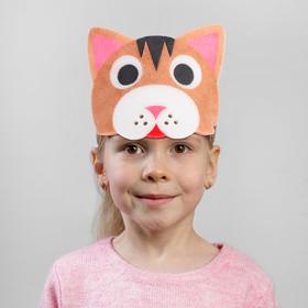 Carnival cat mask on elastic,foam