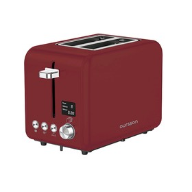 Тостер Oursson TO2130D/DC, 950 Вт, 2 тоста, 9 режимов, разогрев, разморозка, бордовый