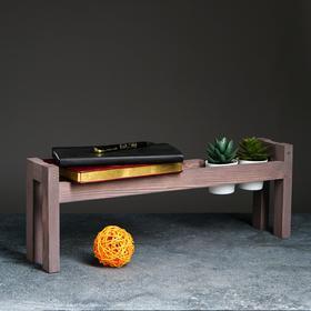 """Полка деревянная """"Ручная"""", цвет серо-фиолетовый, 18 х 50 х 10 см"""