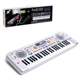 Синтезатор «Играем музыку», с микрофоном, 49 клавиш, LED дисплей, радио, USB, от сети
