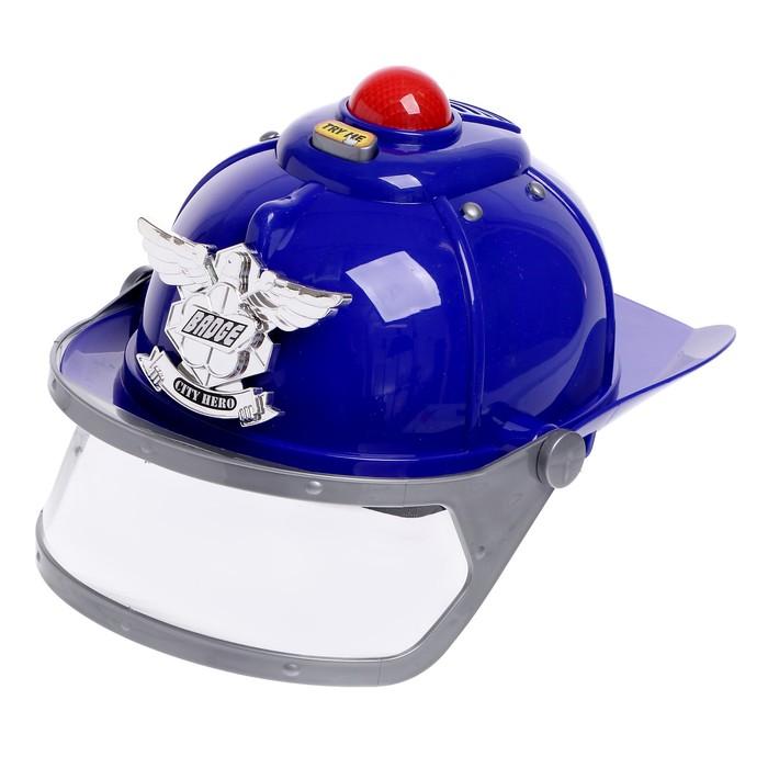 Шлем «Полиция», световые и звуковые эффекты, работает от батареек