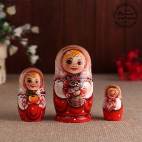 """Matryoshka """"Light field"""", 3 doll, 11 cm"""