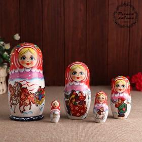 Матрешка «Тройка», 5 кукольная, 17 см