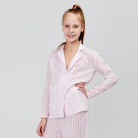 Рубашка для девочки MINAKU: Light touch цвет розовый, рост 122