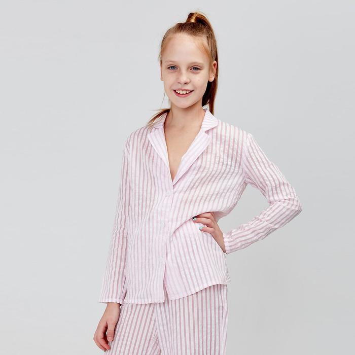 Магазин игрушек - Рубашка для девочки MINAKU: Light touch цвет розовый, рост 122
