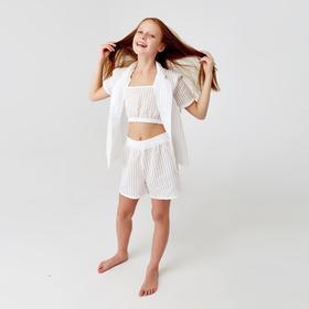 Шорты для девочки MINAKU: Light touch цвет белый, рост 122