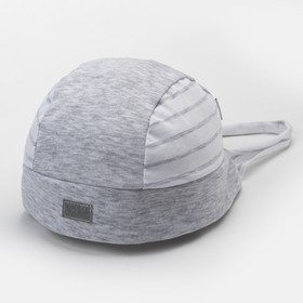 Бандана для мальчика, цвет серый/белый, размер 52-54