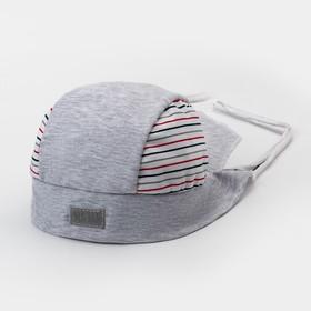 Бандана для мальчика, цвет серый, размер 52-54