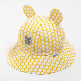 Панама для девочки, цвет жёлтый, размер 48-50