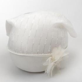 Косынка для девочки, цвет молочный, размер 44-46