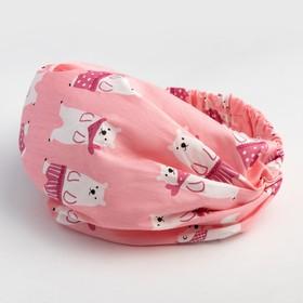 Косынка для девочки, цвет розовый, размер 48-52