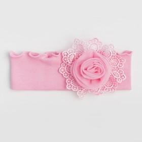 Повязка для девочки, цвет розовый, размер 46-50
