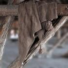 Плед «Вязка», размер 200 × 240 см, коричневый