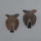 Набор крючков на липучке «Яблоко», 2 шт, металл
