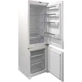 Холодильник Zigmund & Shtain BR 08.1781 SX, встраиваемый, двухкамерный, 256 л, белый