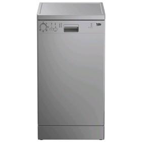 Посудомоечная машина Beko DFS 05W 13S, 10 комплектов, 10.5 л, серебристая