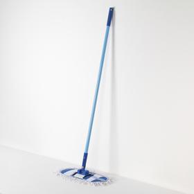 Швабра плоская Доляна, металлическая ручка 116 см, насадка х/б