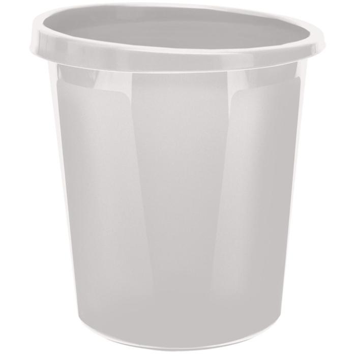 Корзина для бумаг 9 литров, цельная, серая